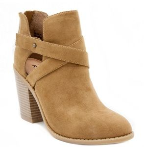 Camel Suede Ankle Boot Size 5.5